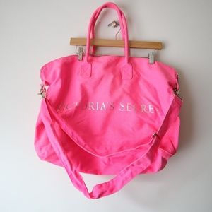 Victoria's Secret Pink canvas duffle bag